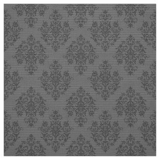 Tela gris barroca adornada del modelo del damasco telas
