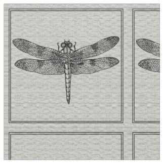 Tela gris de la libélula telas