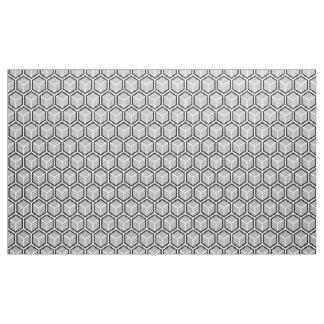 Tela gris neutral de la impresión del panal telas