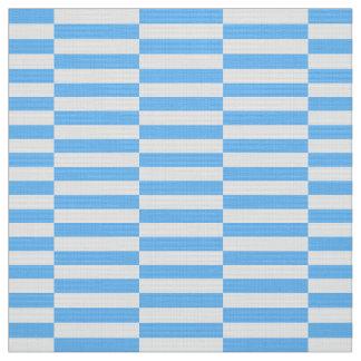 Tela impresa azul, diseño de los pasos de Stiped