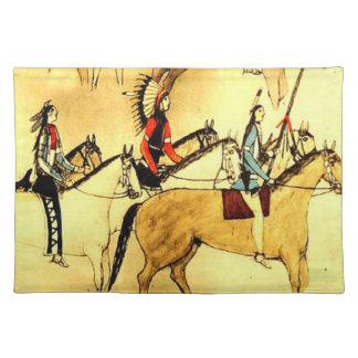 Tela india americana primitiva del dibujo del arte manteles