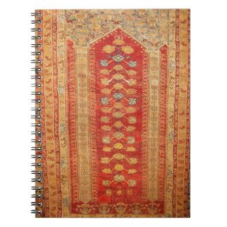 Tela islámica del adorno del vintage de la era her notebook