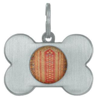 Tela islámica del adorno del vintage de la era her placas de mascota