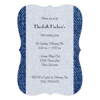 Tela lavada del dril de algodón (materia textil) invitación 12,7 x 17,8 cm