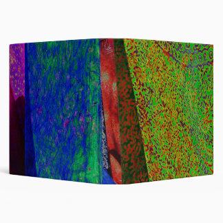 Tela multicolora del batik carpeta de 1,5 pulgadas
