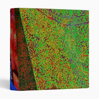 Tela multicolora del batik carpeta de 1 pulgada