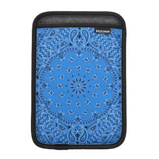 Tela occidental azul de la bufanda de Paisley del  Funda Para iPad Mini