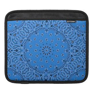 Tela occidental azul de la bufanda de Paisley del  Funda Para iPads