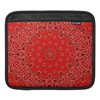 Tela occidental roja de la bufanda de Paisley del  Funda Para iPads
