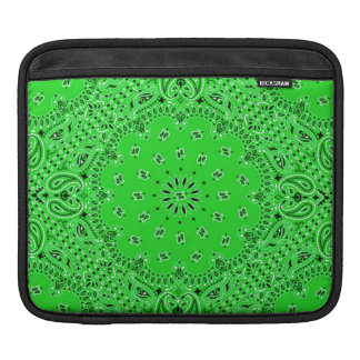 Tela occidental verde de la bufanda de Paisley del Manga De iPad