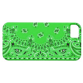 Tela occidental verde de la bufanda del pañuelo de iPhone 5 carcasas