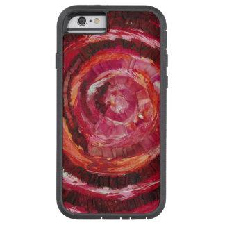 Tela-Pintura espiral roja #2 de 1st-Root Chakra Funda Tough Xtreme iPhone 6