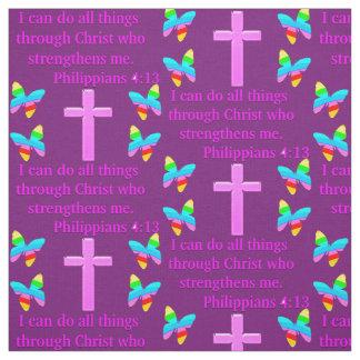 TELA PÚRPURA BONITA DEL 4:13 DE LOS FILIPENSES TELAS