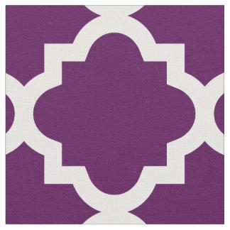 Tela púrpura del modelo el | de Quatrefoil de la Telas
