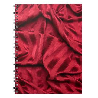 Tela rayada roja libros de apuntes