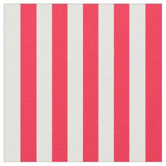Tela rayada roja y blanca telas