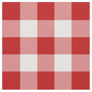 Tela roja y blanca del modelo de la guinga telas