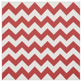 Tela roja y blanca geométrica del zigzag telas