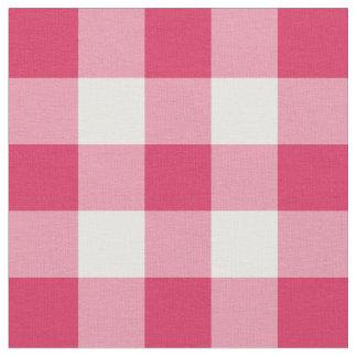 Tela rosada y blanca de la sandía de la guinga del telas