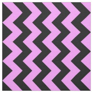 Tela rosada y negra intrépida del zigzag telas