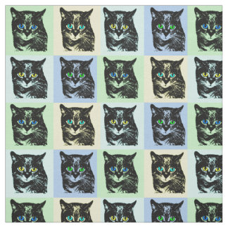 Tela transparente misteriosa del gato negro telas