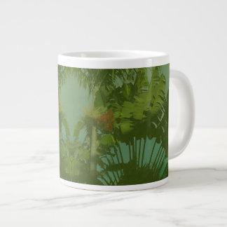 Tela tropical del falso vintage taza grande