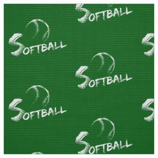 Tela verde oscuro del softball del Grunge Telas