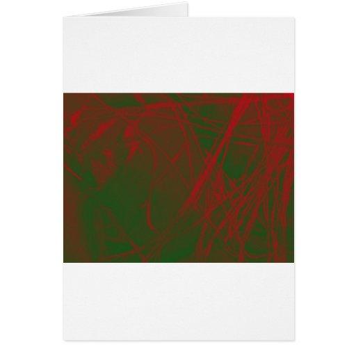 tela verde roja invertida tarjeta de felicitación