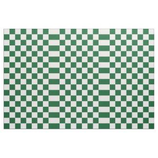 Tela verde y blanca a cuadros telas
