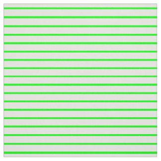 Tela verde y blanca de neón de la raya telas