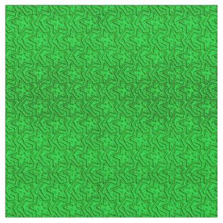 Tela Verde-Zazzle esculpida del Estrella-Neón Telas