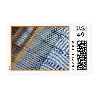 Telar anguloso 2 sellos postales