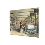 Telar de poder que teje, 1834 impresión en lona