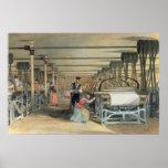 Telar de poder que teje, 1834 póster