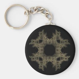 Telaraña del arte del fractal llaveros