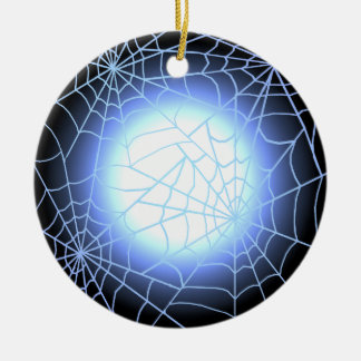 Telarañas azules contra una Luna Llena Ornamento De Reyes Magos