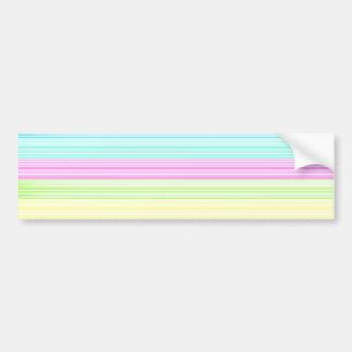 Telas a rayas coloridas etiqueta de parachoque