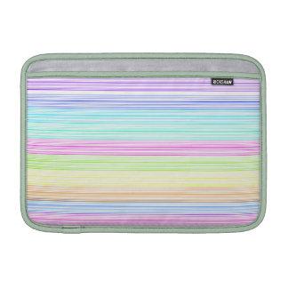 Telas a rayas coloridas fundas para macbook air