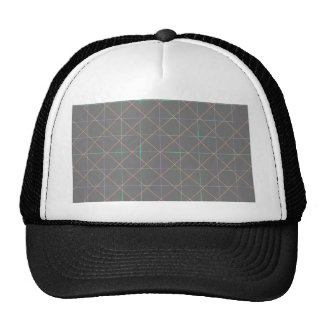Telas a rayas futuristas gorras