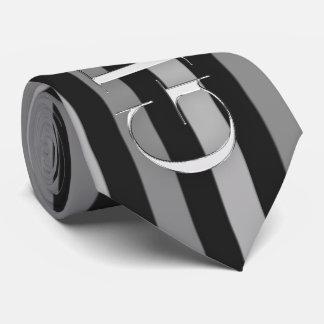 telas a rayas negras y de plata del novio corbatas personalizadas