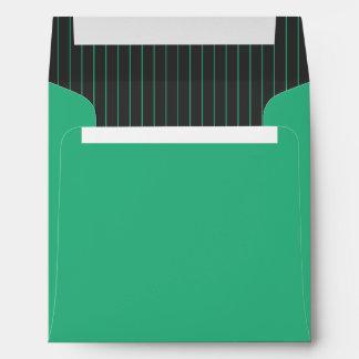 Telas a rayas verdes y grises sobres