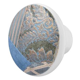 Telas acolchadas pomo de cerámica