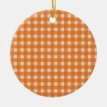 telas escocesas anaranjadas del país del color ornamento para reyes magos