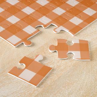 telas escocesas anaranjadas del país del color rompecabeza