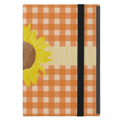 Telas escocesas anaranjadas frescas del estilo iPad mini coberturas