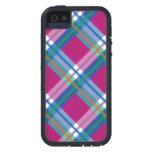 Telas escocesas azules rosadas, controles, tartane iPhone 5 Case-Mate fundas