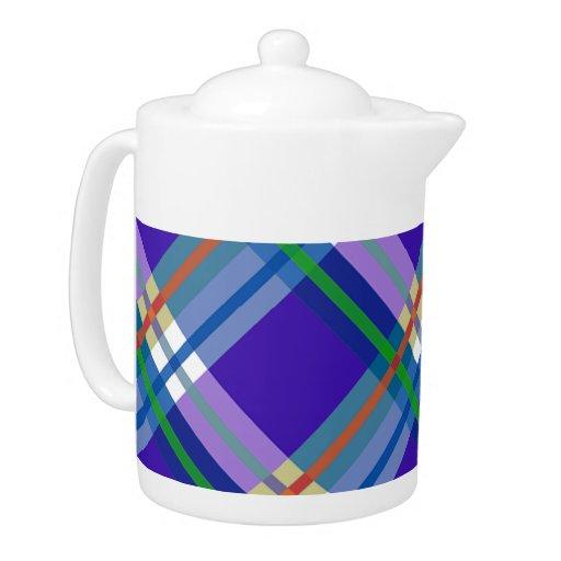 Telas escocesas, controles, tartanes azules