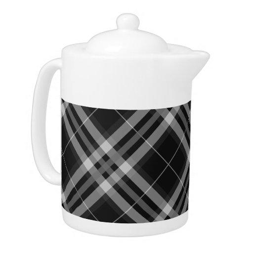 Telas escocesas, controles, tartanes blancos y neg