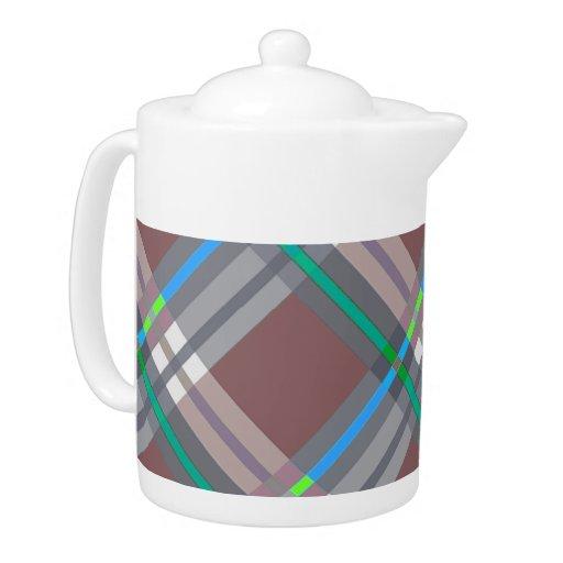 Telas escocesas, controles, tartanes Brown y turqu