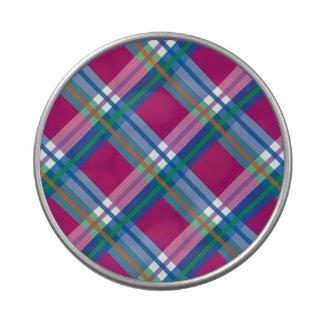 Telas escocesas, controles, tartanes jarrones de dulces